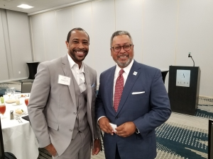 Demetrius Brown and Craig J. Richard President & CEO of Tampa Bay Economic Development Committee